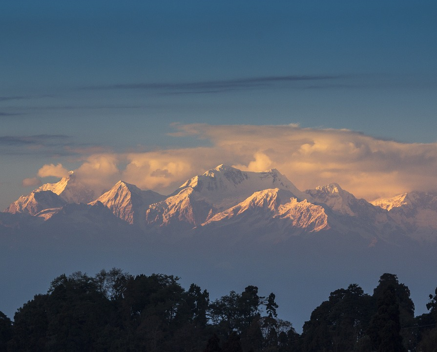 Himalayas from Darjeeling