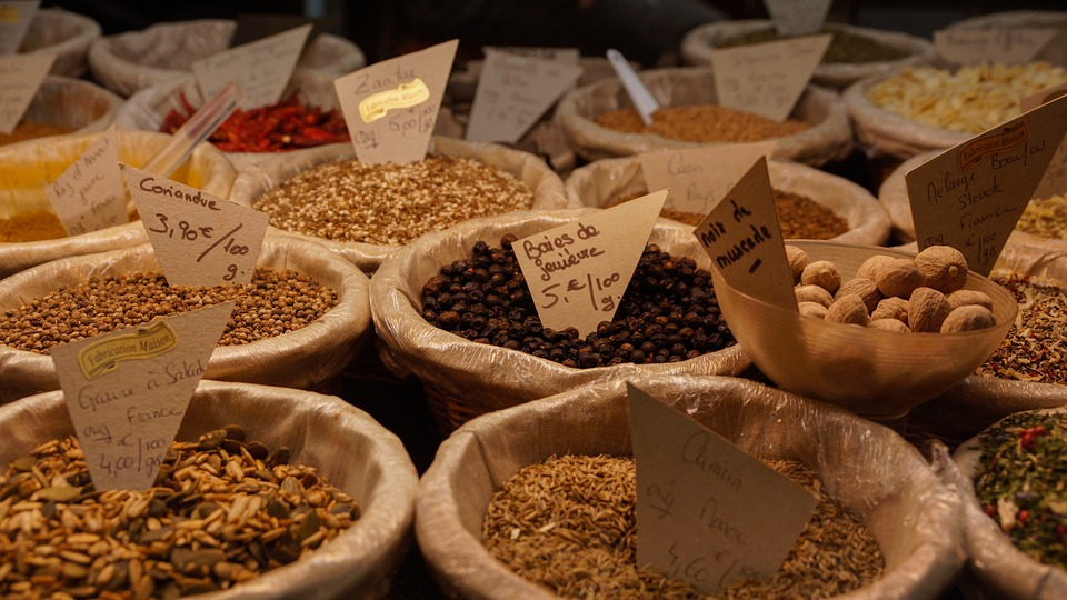 Spices in the Indian cuisine